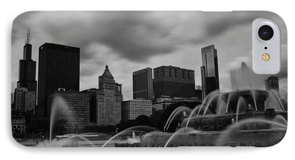 IPhone Case featuring the photograph Chicago City Skyline by Miguel Winterpacht