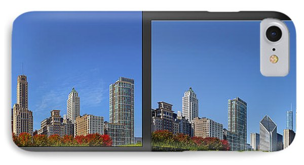 Chicago Skyline Of Superstructures Phone Case by Christine Till