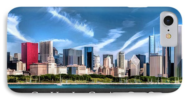 Chicago Skyline Panorama Poster IPhone Case by Christopher Arndt