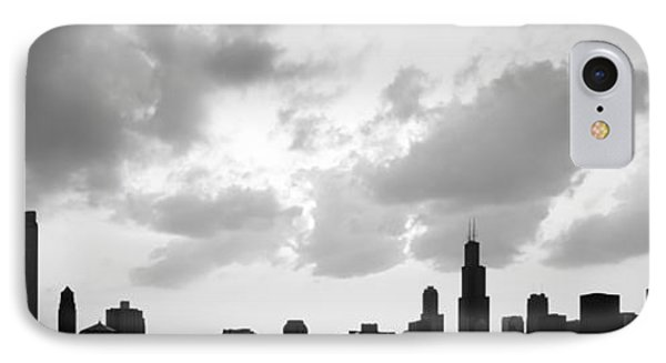 Chicago Skyline Panorama Silhouette Photo IPhone Case by Paul Velgos