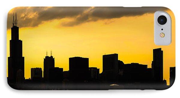 Chicago Skyline Panorama Sunset Photo IPhone Case