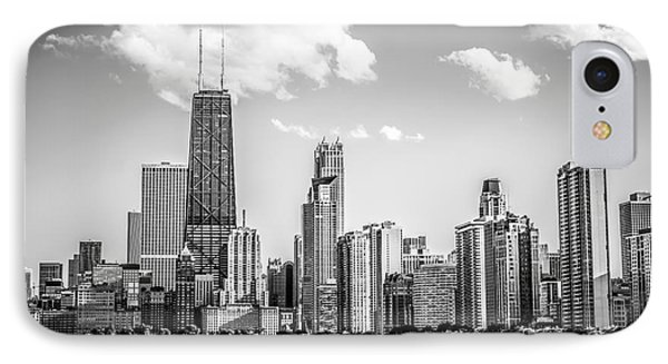 Chicago Skyline Picture In Black And White IPhone Case