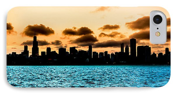 Chicago Skyline Silhouette IPhone Case by Semmick Photo