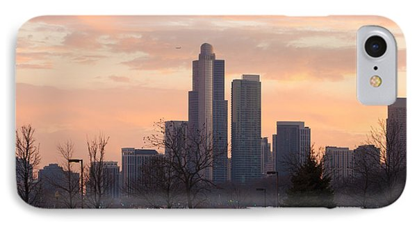 IPhone Case featuring the photograph Chicago Skyscrapers In Sunset by Dawn Romine