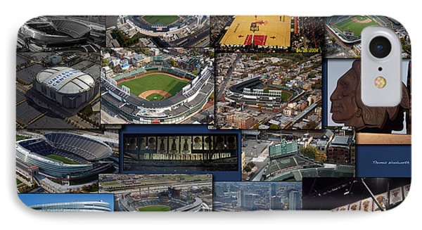 Chicago Sports Collage IPhone Case by Thomas Woolworth