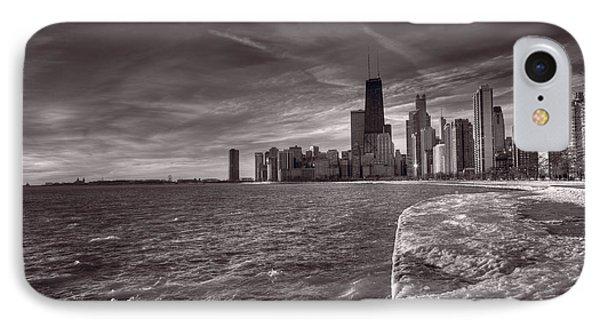 Chicago Sunrise Bw Phone Case by Steve Gadomski