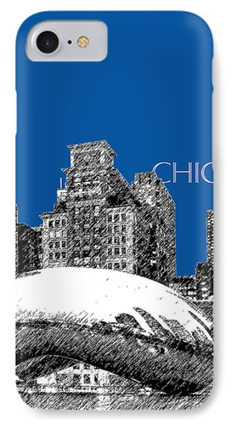 Chicago The Bean - Royal Blue IPhone Case