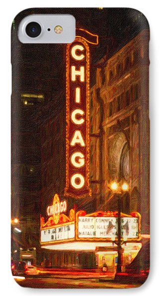 Chicago Theater IPhone Case by Celestial Images