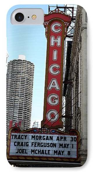 Chicago Theater With Watercolor Effect IPhone Case by Frank Romeo