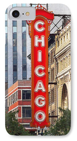 Chicago Theatre - A Classic Chicago Landmark Phone Case by Christine Till