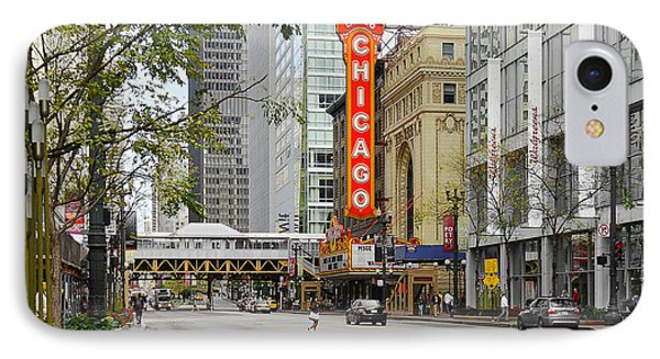 Chicago Theatre - French Baroque Out Of A Movie Phone Case by Christine Till