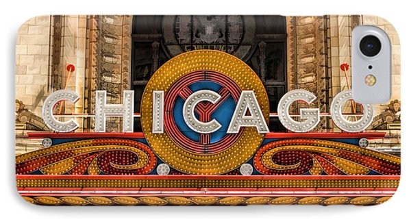 Chicago Theatre Marquee Sign IPhone 7 Case by Christopher Arndt