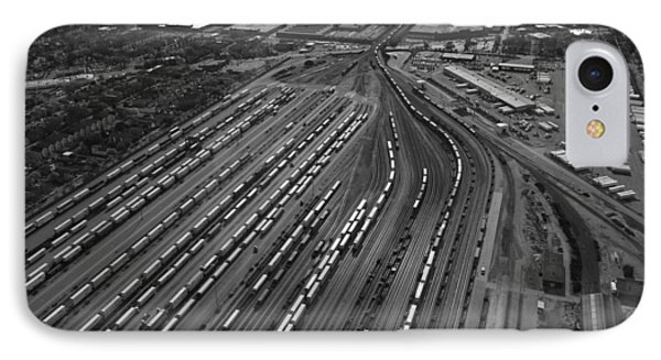 Chicago Transportation 02 Black And White Phone Case by Thomas Woolworth