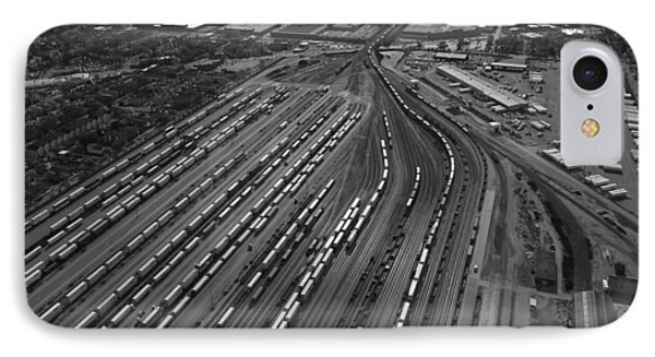 Chicago Transportation 02 Black And White IPhone Case by Thomas Woolworth