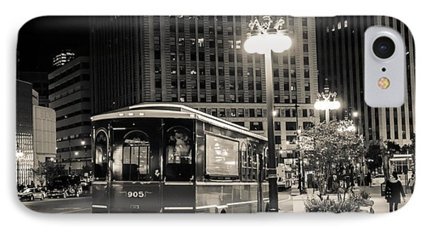 Chicago Trolly Stop IPhone Case by Melinda Ledsome