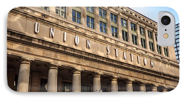Chicago Union Station Building And Sign IPhone Case by Paul Velgos