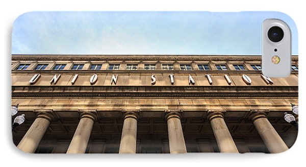 Chicago Union Station Sign And Building Columns Phone Case by Paul Velgos