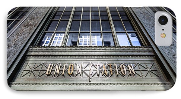 Chicago Union Station Sign And Entrance Phone Case by Paul Velgos