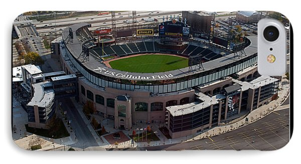 Chicago Us Cellular Field 01 IPhone Case by Thomas Woolworth