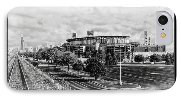Chicago Us Cellular Field Bw IPhone Case by Thomas Woolworth