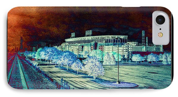 Chicago Us Cellular Field Textured IPhone Case by Thomas Woolworth