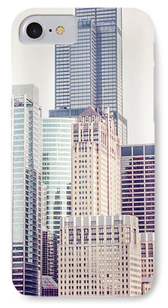 Chicago Vertical Panorama Of Sears Willis Tower IPhone Case by Paul Velgos