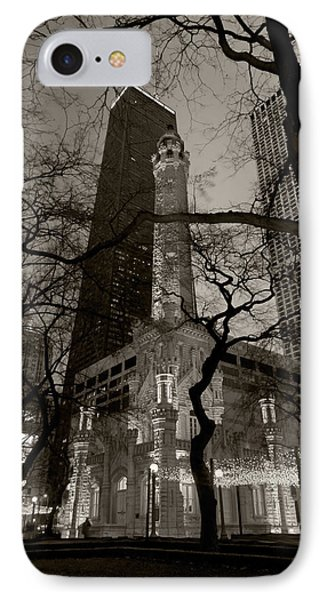 Chicago Water Tower B W Phone Case by Steve Gadomski