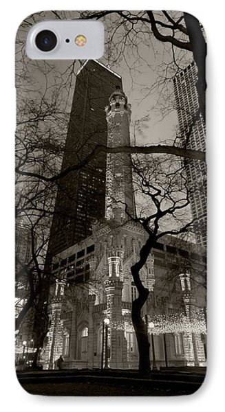 Chicago Water Tower B W IPhone Case
