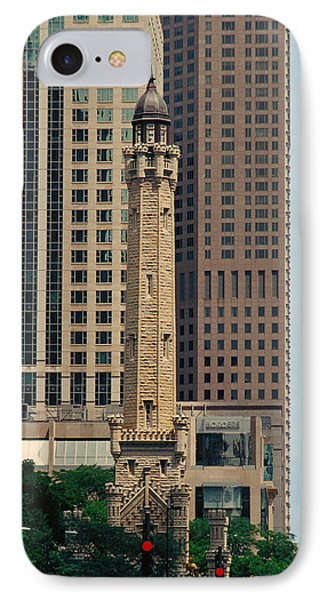 Chicago Water Tower IPhone Case by Peg Urban