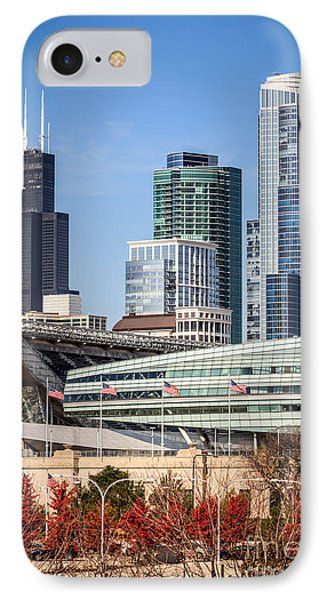 Chicago With Soldier Field And Sears Tower IPhone Case
