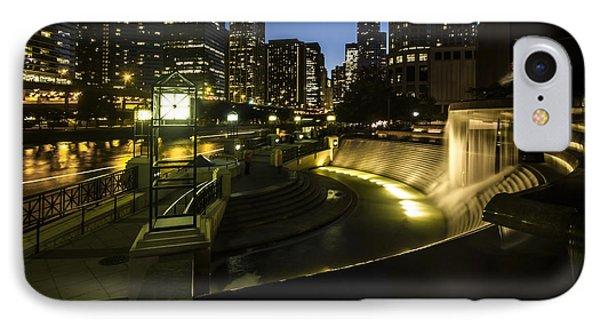 Chicago's Centennial Fountain And Skyline IPhone Case by Sven Brogren
