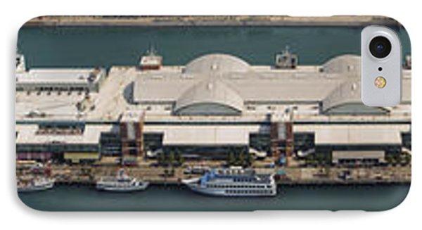 Chicago's Navy Pier Aerial Panoramic IPhone Case by Adam Romanowicz