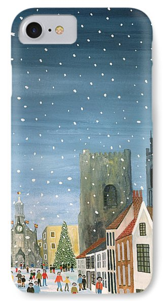 Chichester Cathedral A Snow Scene Phone Case by Judy Joel