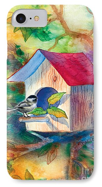 Chickadee Bungalow IPhone Case by Teresa Ascone