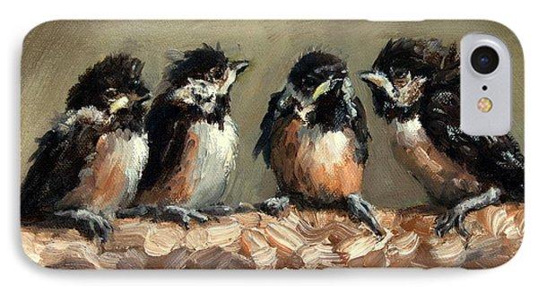 Chickadee Chicks Phone Case by Lisa Phillips Owens