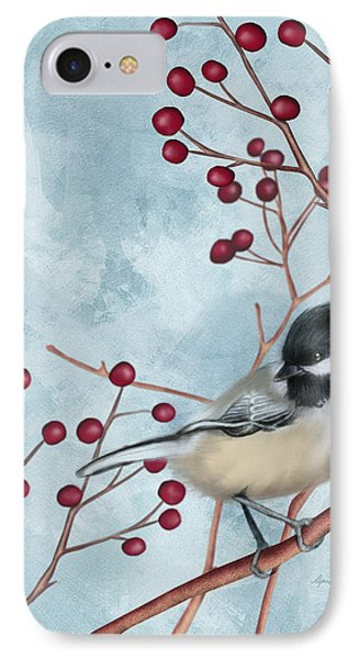 Chickadee I IPhone Case by April Moen
