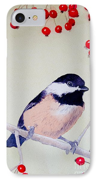 Chickadee IPhone Case by Laurel Best