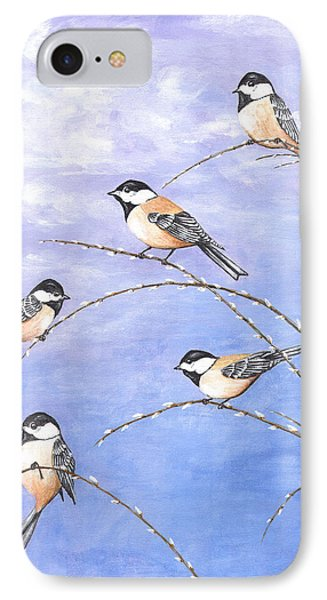 Chickadees IPhone Case by Carl Genovese
