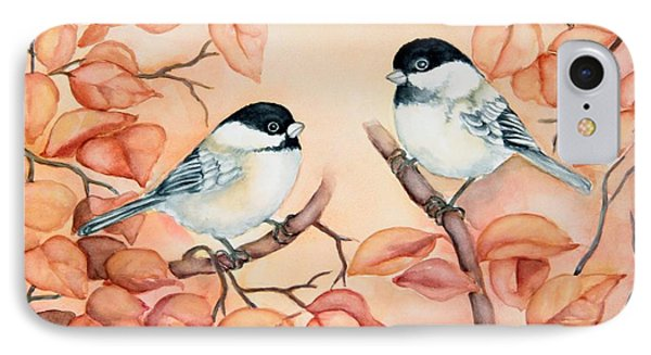 Chickadees IPhone Case by Inese Poga