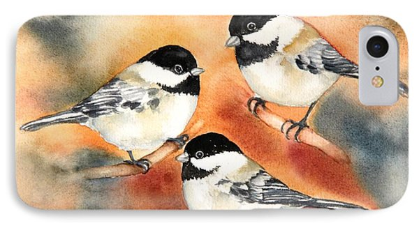 Chickadees Trio IPhone Case by Inese Poga