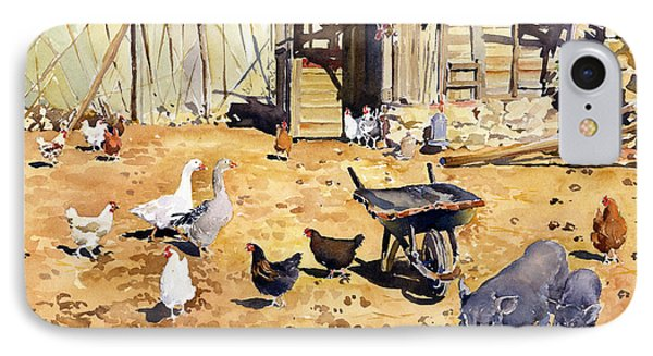 Chickens Geese And Little Pigs Phone Case by Margaret Merry