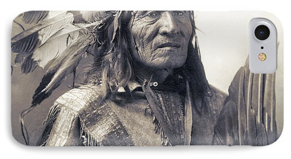 Chief He Dog Of The Sioux Nation  C. 1900 IPhone Case by Daniel Hagerman