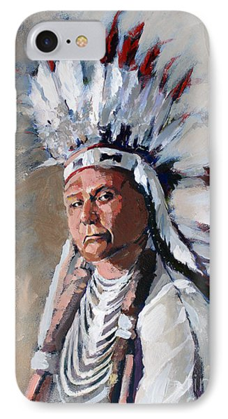 Chief Joseph IPhone Case by Synnove Pettersen