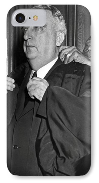 Chief Justice Fred Vinson IPhone Case by Underwood Archives