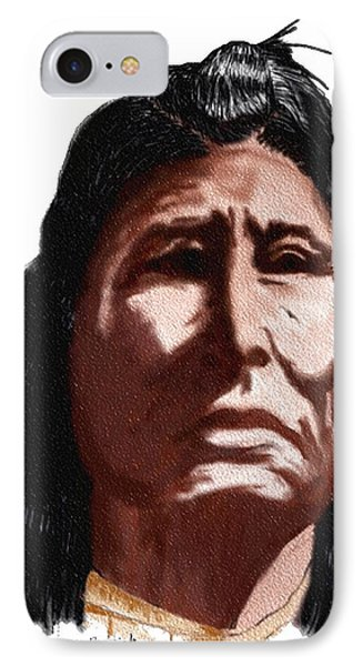 IPhone Case featuring the digital art Chief by Terry Frederick