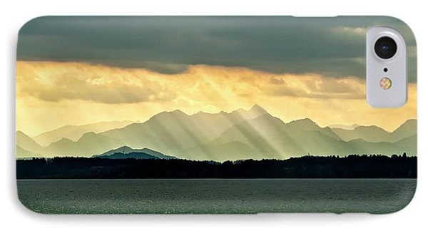 Chiemsee, Germany, Sunrays IPhone Case by Sheila Haddad