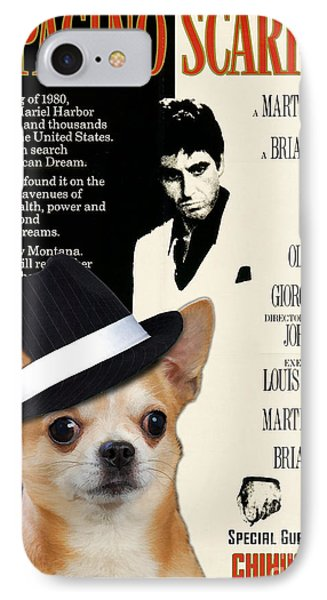 Chihuahua Art - Scarface Movie Poster IPhone Case
