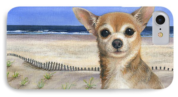 Chihuahua At Sea Isle City New Jersey Phone Case by Peggy Dreher