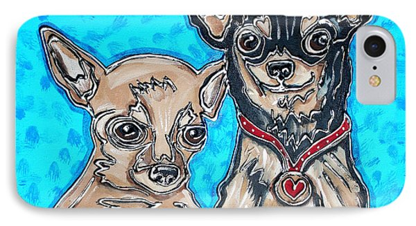 Chihuahua Duo IPhone Case by Cynthia Snyder
