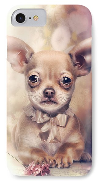 Chihuahua Puppy Phone Case by Cindy Grundsten